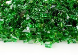 "1/4"" Emerald Reflective Fire Glass"