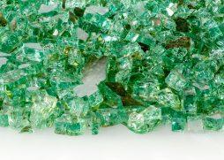 "1/4"" Jade Reflective Fire Glass"