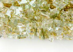 """1/4"""" Platinum Reflective Fire Glass"""