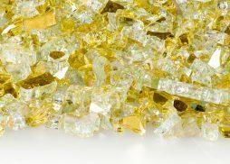 "1/4"" Goldrush Reflective Fire Glass"