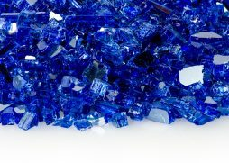 "1/4"" Sapphire Reflective Fire Glass"
