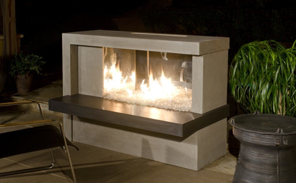 American Fire Designs standard outdoor fireplace