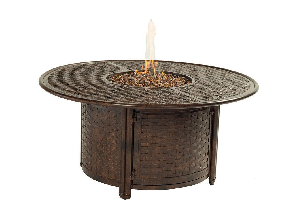 Resort 49 Round Coffee Table Firepit Hauser 39 S Patio