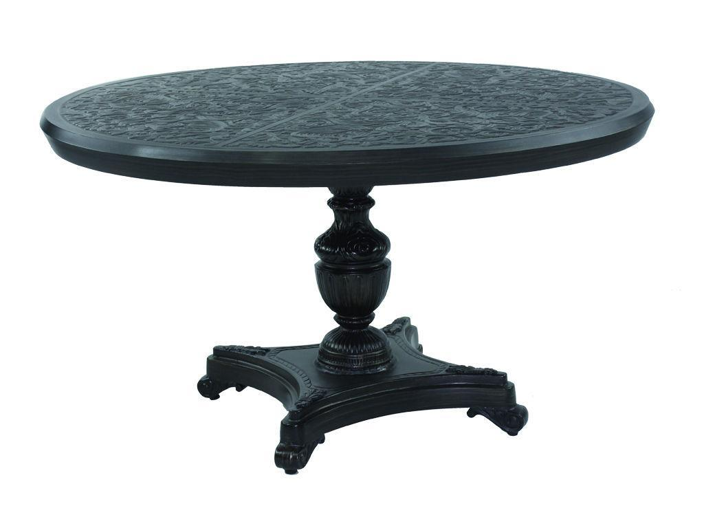 54 Quot Round Pedestal Dining Table Hauser S Patio