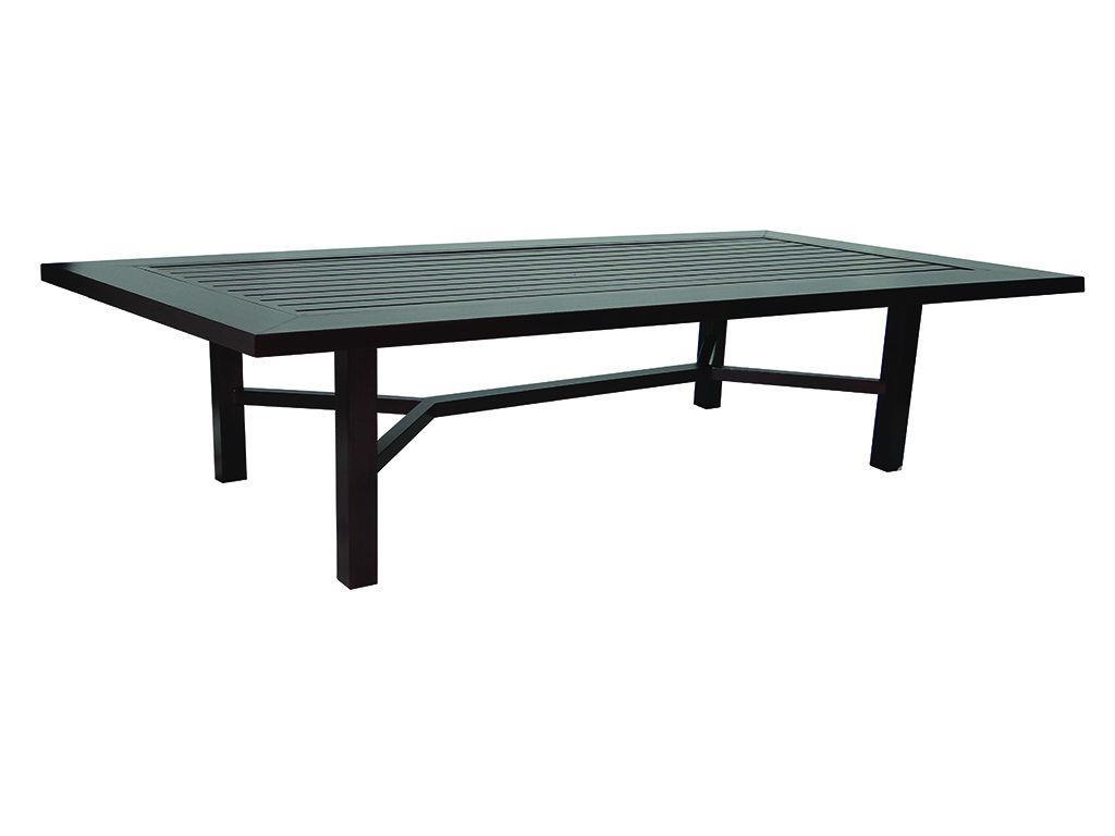 contempo 44 x 108 rectangular dining table hauser 39 s patio
