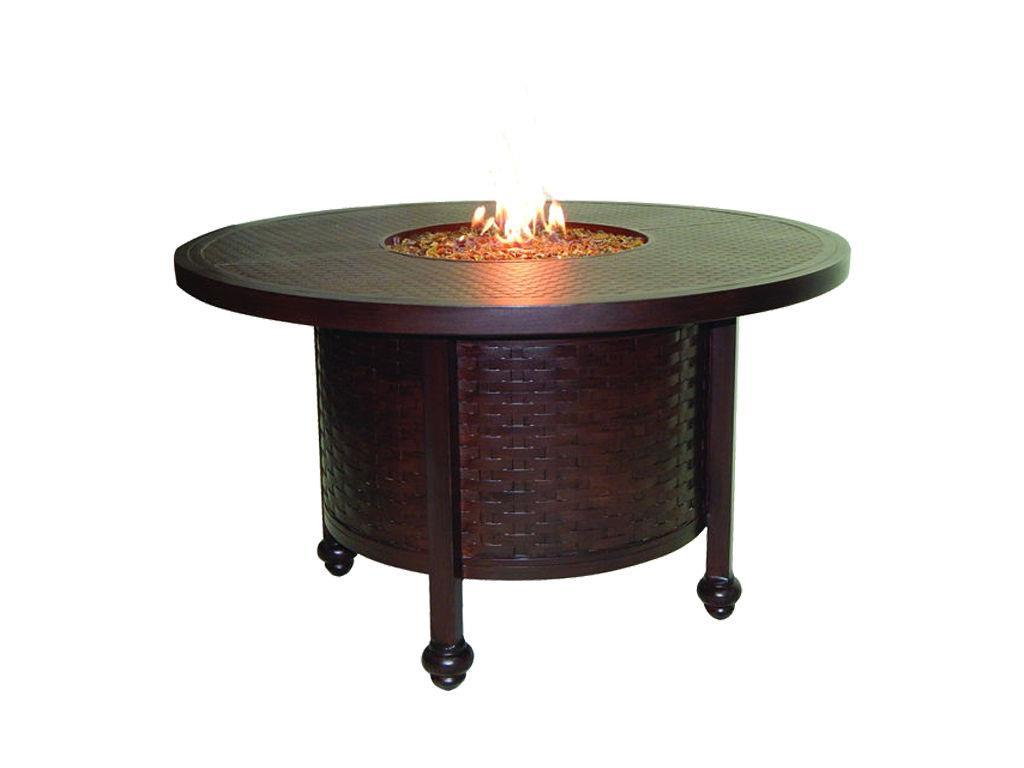 French quarter 48quot round dining table firepit hauser39s patio for French round dining table