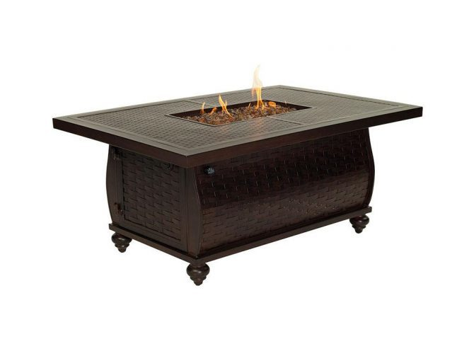 """French Quarter 36"""" x 52"""" Rectangular Coffee Table Firepit"""