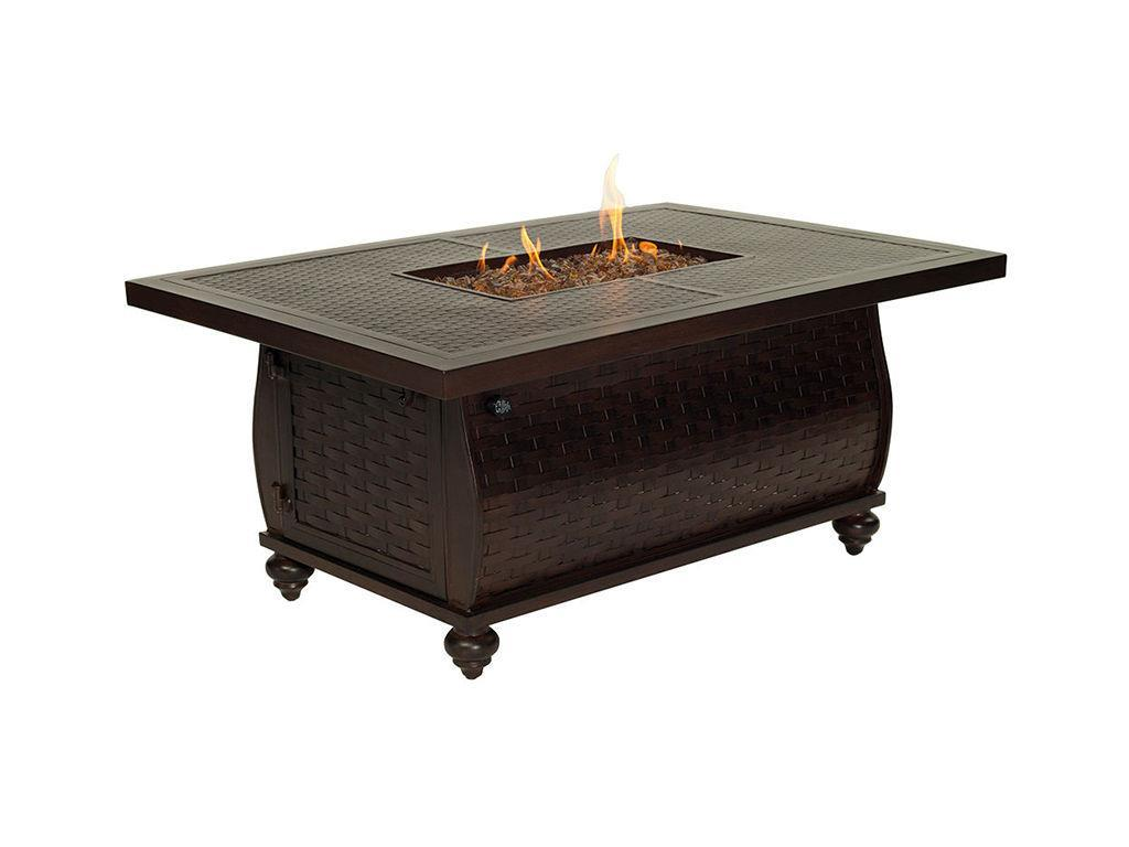French Quarter 36 X 52 Rectangular Coffee Table Firepit