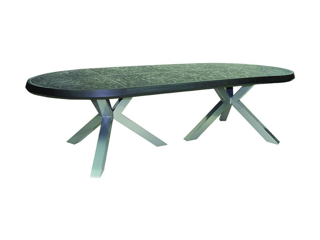 altra 48 x 108 oval dining table hauser 39 s patio