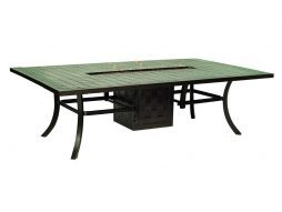 Castelle rectangular dining firepit table