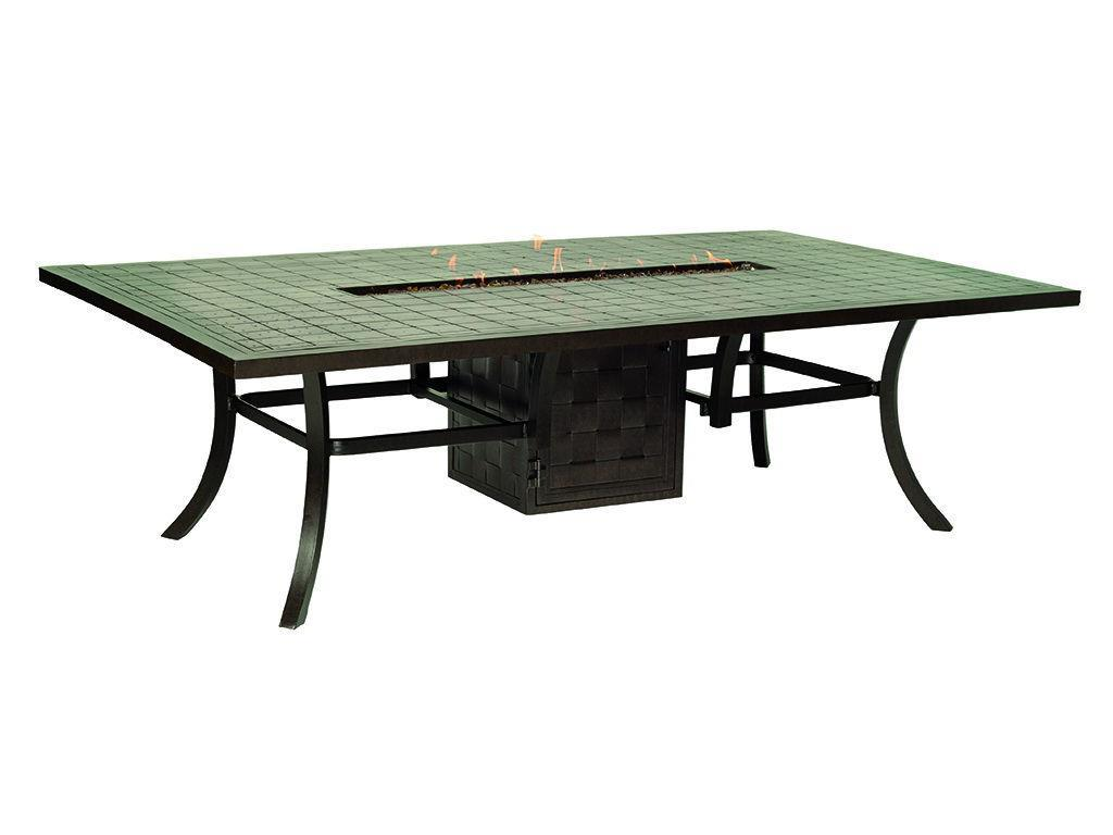 Classical 64 Quot X 96 Quot Rectangle Firepit Dining Table