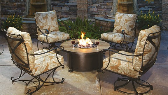 Casual Fireside gas fire pit by OW Lee