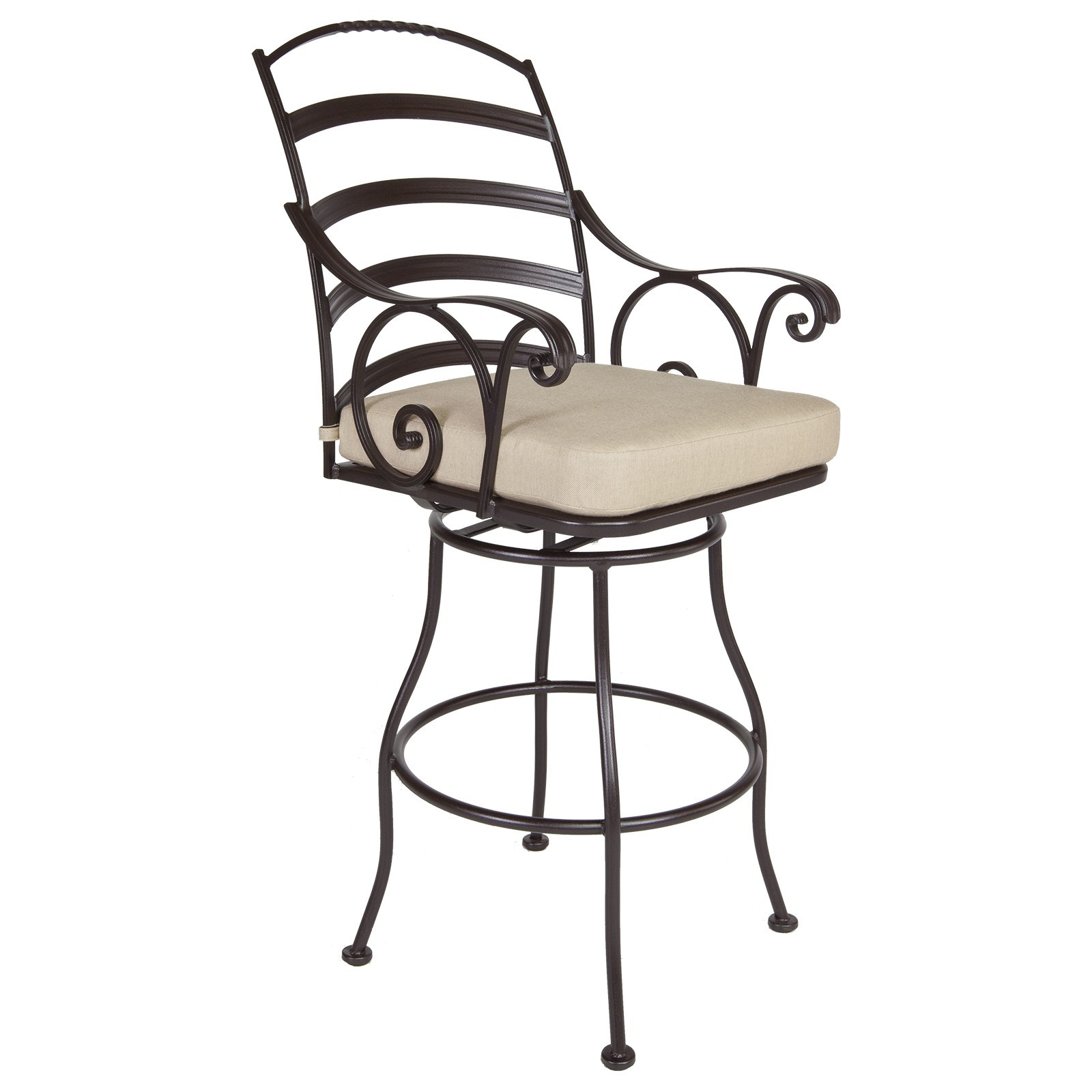 Siena Swivel Bar Stool With Arms Hauser S Patio