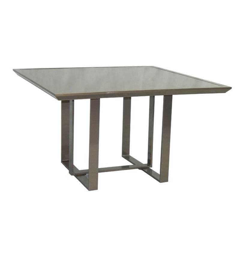Contemporary Ready To Assemble Square Dining Table Hausers Patio - 46 inch square coffee table