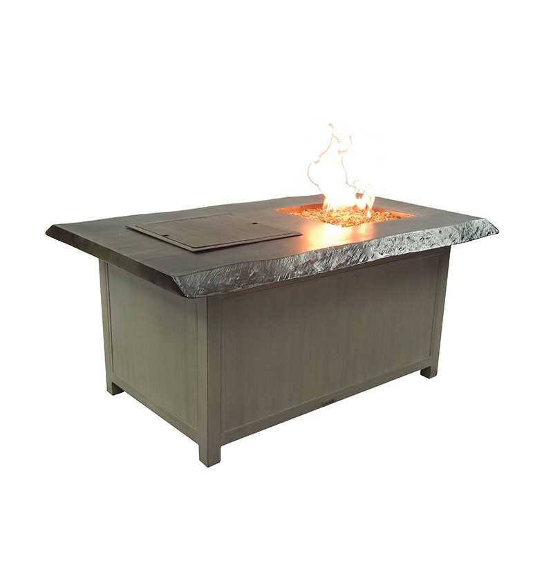 Altra Fully Welded Rectangular Fire And Ice Coffee Table