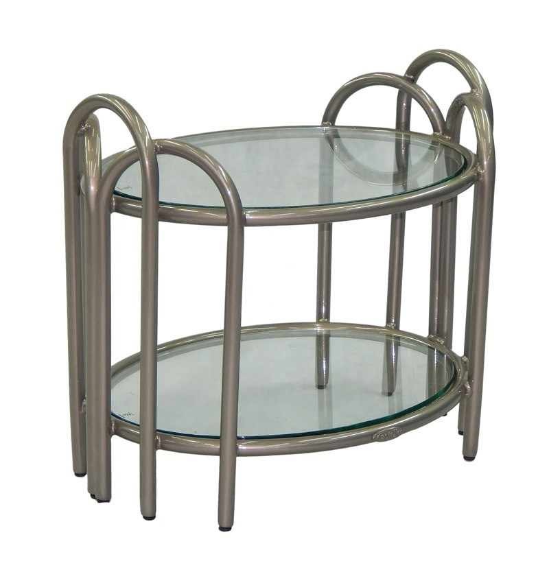 Argento Elliptical Side Table Hauser S Patio