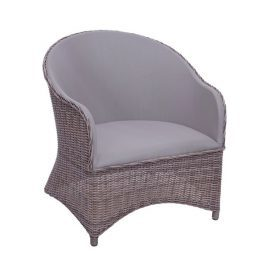 Milano Club Chair - Driftwood / Taupe