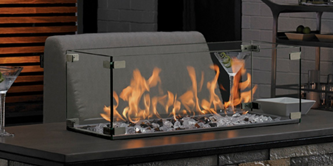 gas fire pit surround