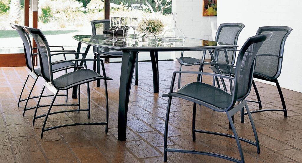 wave collection dining table brown jordan