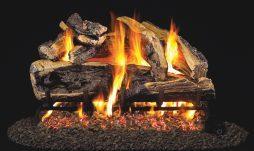 Charred Rugged Split Oak Fireplace Logs