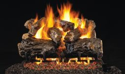Burnt Rustic Oak Fireplace Logs