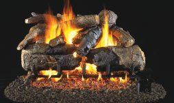 Charred American Oak Fireplace Logs