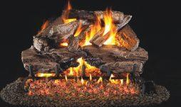 Charred Cedar Fireplace Logs