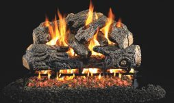 Charred Northern Fireplace Logs