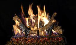 Charred Oak Stack Fireplace Logs