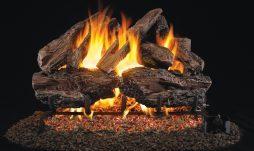 Charred Red Oak Fireplace Logs