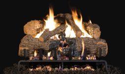 Charred Angel Oak Fireplace Logs