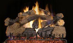 Charred Grizzly Oak Fireplace Logs