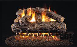 Rustic Oak Designer Fireplace Logs