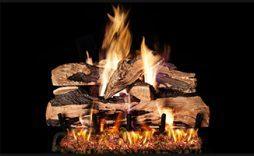 indoor gas fireplace logs split oak