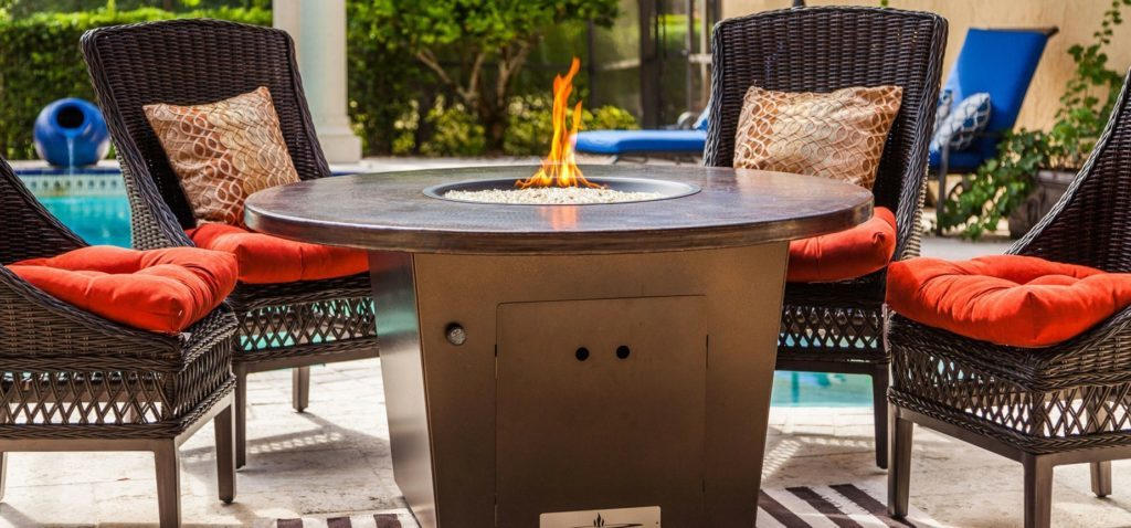 Firetainment round cooking fire pit table