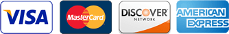 Accepting VISA, Mastercard, AMEX, and Discover