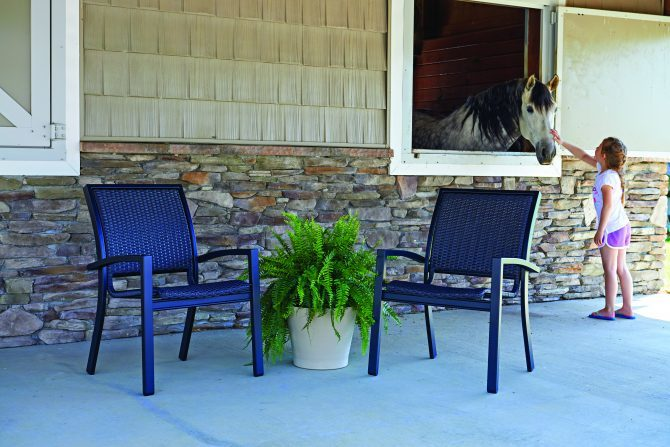 Kendall Wicker Stacking Cafe Chair