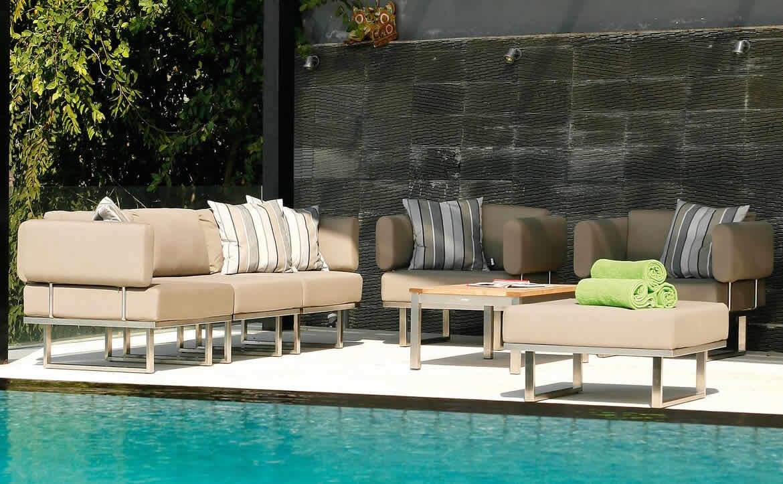 outdoor sofa with pillows
