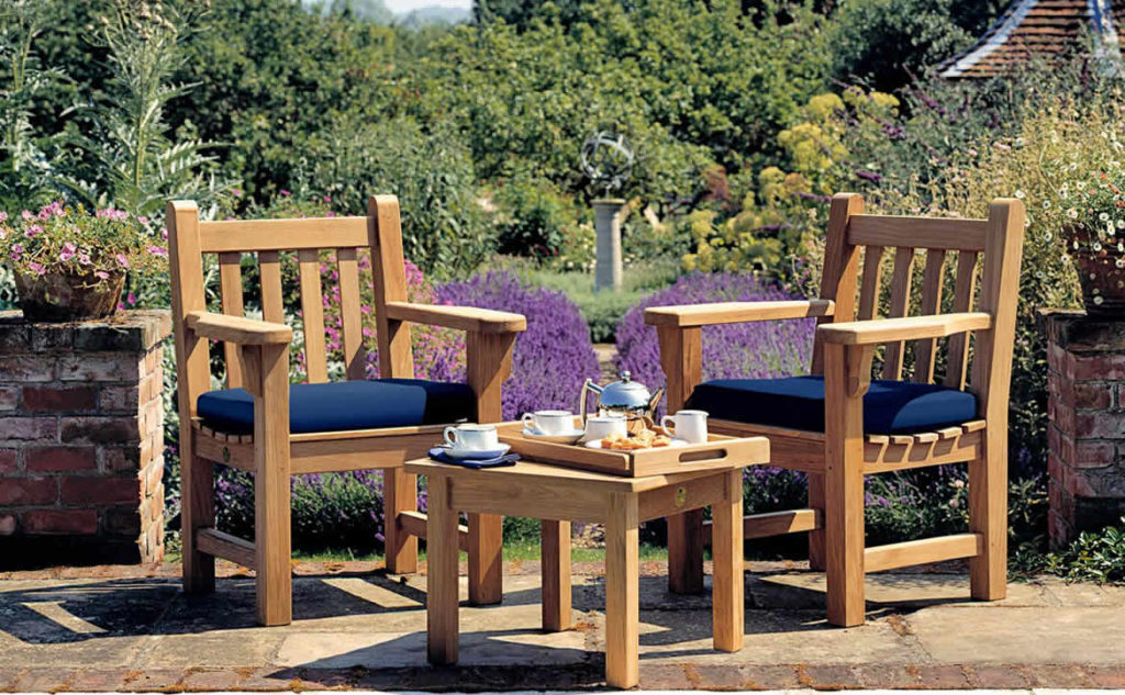 outdoor seating table