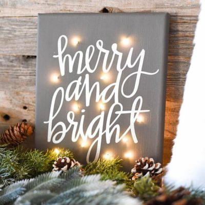 lighted holiday art