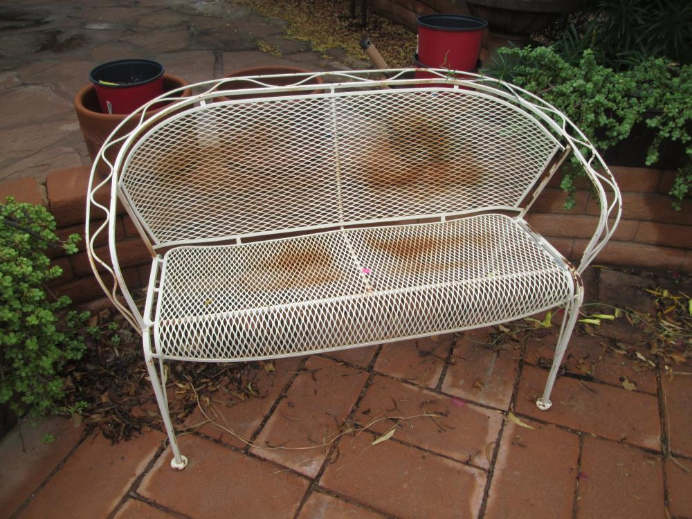 how to refinish and repair wrought iron outdoor furniture